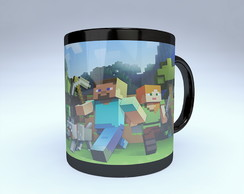 CANECA GAME MINECRAFT BLACK