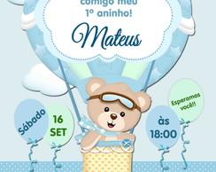 Convite Digital Virtual Ursinho Baloeiro 02 Elo7