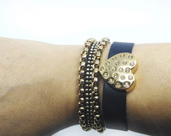 Mix Pulseiras Love Golden