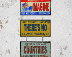 Conj. 3 Placas Decorativas Imagine