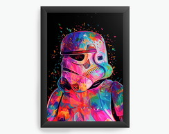 Quadro Decorativo Nerd e Geek Stormtrooper