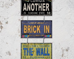 Conj. 3 Placas Decorativas The Wall