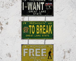 Conj. 3 Placas Correntes Break Free