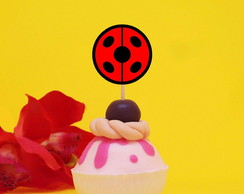 Topper para doces - Lady bug joaninha