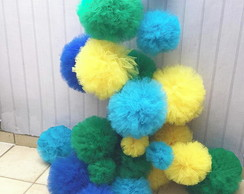 Kit Pompom Tule SUPER FESTA