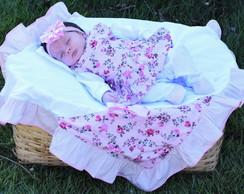 ... Kit Saida De Maternidade Menina 5 Peças Flores 4ca88f311ae