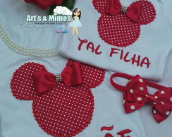 Baby Look Mae & Filha Minnie