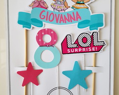 Topo de Bolo Cake Topper Lol Surprise