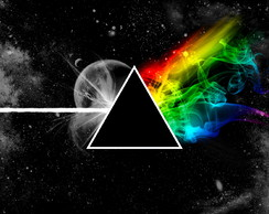 Quadro Decorativo Dark Side of the Moon Floyd 30x50cm Em Mdf