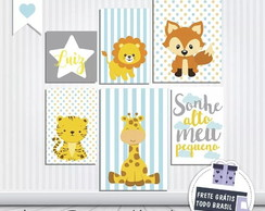 Placas Decorativas Quarto Infantil Bebê Safari PS 1mm