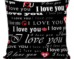 Almofada I Love You Black 45x45cm