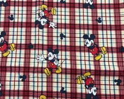 TIDI09 Disney Mickey Mouse on Red Plaid