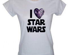 Camiseta Baby Look Personalizada, Star Wars