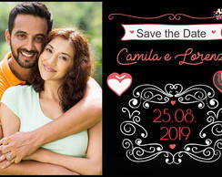 SAVE THE DATE CHALKBOARD ARTE DIGITAL