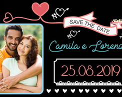 ARTE DIGITAL SAVE THE DATE CHALKBOARD