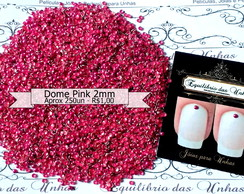 Dome Pink 2mm (aprox 250un)