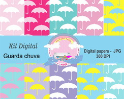 KIt Digital papeis guarda chuva