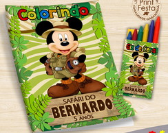 Kit Revistinha e giz Mickey Safari
