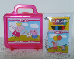 Maletinha Peppa Pig recheada com Kit Colorir