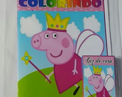 kit de colorir Peppa fada
