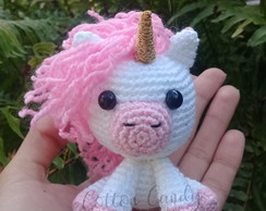 Mini Unicórnio Amigurumi