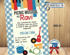Convite Picnic Musical - digital