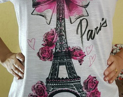Camiseta T-shirt Feminina-Paris