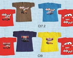 9446038db4237 Kit 3 camisetas Carros e amigos varios modelos