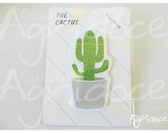 Cartela de post-its cactos