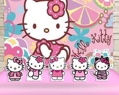 Kit Festa Prata Pianel + Display Hello Kitty