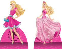 Barbie Moda Magia kit 10 mini display em mdf 3mm