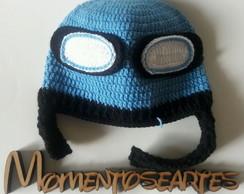 Boina de Croche para bebê - Menino Azul no Elo7  c2e6c1edc55