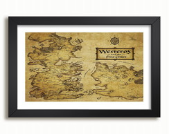 Quadro Decorativo Game Of Thrones Serie Mapa F99 Westeros