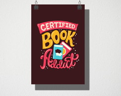 Poster A4 Certified book addict