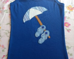 Camiseta regata com bordado em patch apliqué