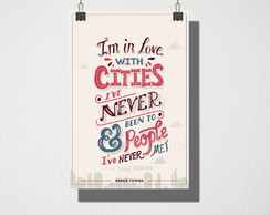 Poster A4 Im in love with cities