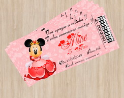 Convite Ingresso Minnie - Arte Digital