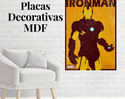 Placa decorativa do Homem de ferro