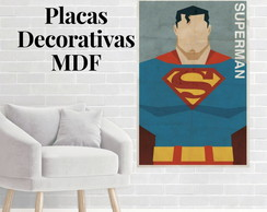 Placa decorativa do Superman
