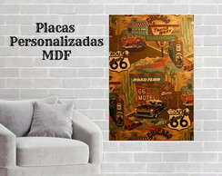 Placas decorativas rota 66
