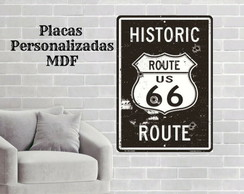 placa decorativa rota 66