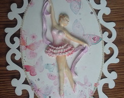 Placa Decorativa Bailarina