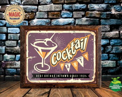 Quadro Vintage Cocktail
