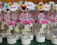 Tubetes Personalizados Flamingo Festa Tropical