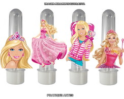 Tubete com Aplique 3D - Barbie
