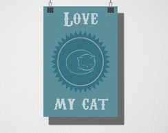 Poster A4 Love my cat