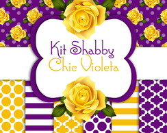 KIT DIGITAL Shabby Chic Violeta