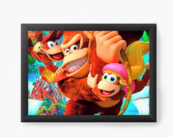 Quadro Decorativo Donkey Kong Tropical Freeze cod8090