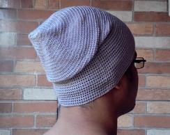 857d9e568b12f Gorro Touca Beanie Crochê Masculino Bege no Elo7