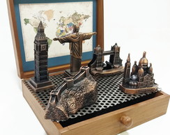 Miniaturas de Monumentos do Mundo com Muralha da China